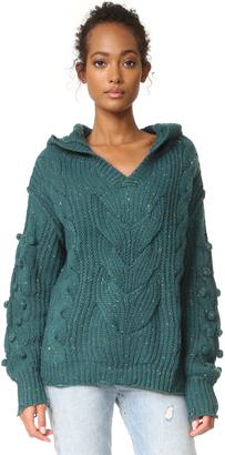 Wildfox Pattie V Neck Sweater $158 thestylecure.com