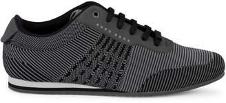HUGO BOSS Striped Knit Sneakers