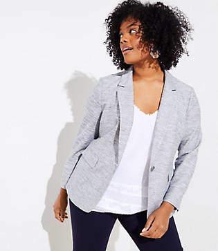 LOFT Plus Textured Knit Blazer