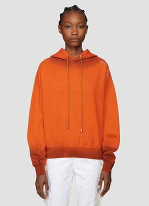 Eckhaus Latta Hooded Logo Sweatshirt in Orange