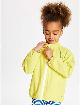 John Lewis & Partners Girls' Athletic Zip Through Jacket, Yellow