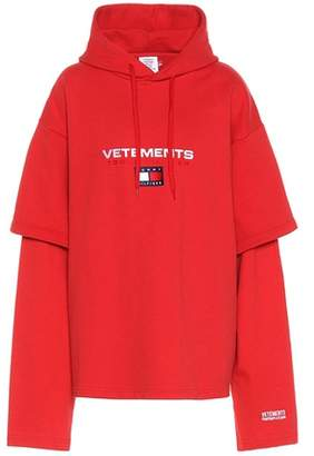 Vetements X Tommy Hilfiger cotton-blend sweatshirt