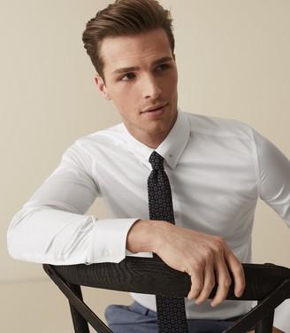 Reiss CALDWELL REG Collar-Bar Shirt White