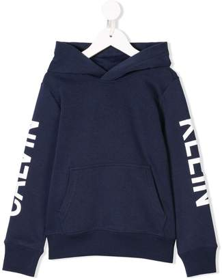 Calvin Klein Kids logo hoodie