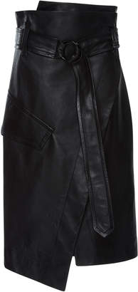 Petar Petrov Rita Patent Leather Skirt