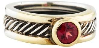 David Yurman Two-Tone Garnet Cocktail Ring
