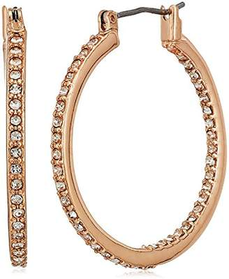 "Kenneth Cole New York Rose Gold Items"" Rose Gold and Crystal Small Hoop Earrings"