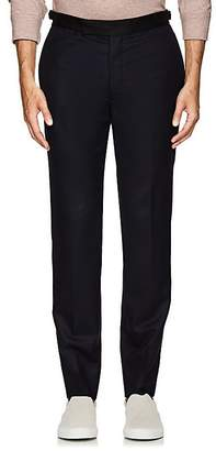 Officine Generale MEN'S CONTRAST-WAISTBAND WOOL TAILORED TROUSERS