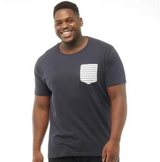 Brave Soul Mens Plus Size Generate T-Shirt Navy/White