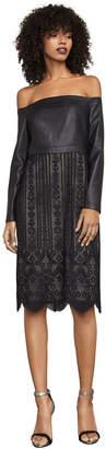 BCBGMAXAZRIA Nahara Lace Off-The-Shoulder Dress