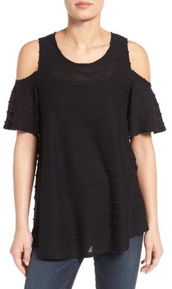 Women's Bobeau Textured Cold Shoulder Top $42 thestylecure.com