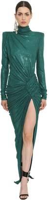 Alexandre Vauthier Embellished Turtleneck Dress