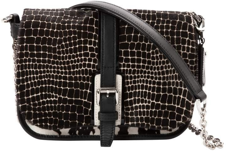 Longchamp Pony-style calfskin handbag - BLACK - STYLE