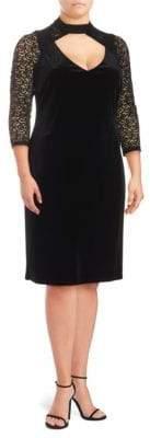 Marina Plus Cut-Out Velvet Dress
