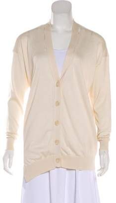 Stella McCartney Silk-Blend Cutout Cardigan