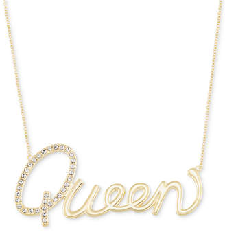 """Swarovski Simone I. Smith Crystal """"Queen"""" Pendant Necklace in 18k Gold over Sterling Silver, 18"""" + 4"""" extender"""