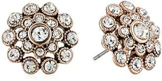 Badgley Mischka Crystal Pave Flower Stud Earrings