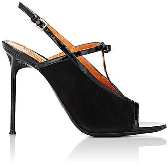 Walter De Silva Women's Bow-Detailed Suede & Patent Leather Sandals
