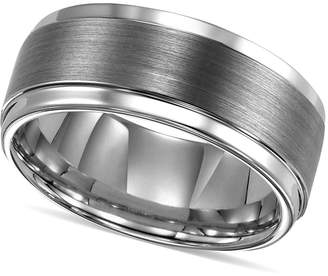Triton Men Ring, Tungsten Carbide Comfort Fit Wedding Band 9mm Band