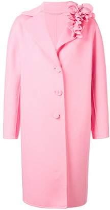 Ermanno Scervino ruffled lapel cocoon coat