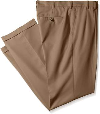Izod Men's Big-Tall Double Pleated Solid Twill Pant