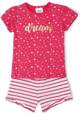 Sprout NEW Girls Pajama Set Raspberry