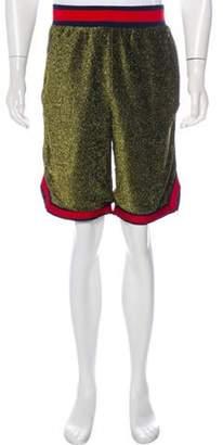 Fila x Barney's New York Metallic Logo Shorts gold x Barney's New York Metallic Logo Shorts