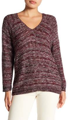 Susina V-Back Marled Knit Sweater (Petite)