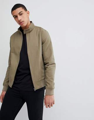 New Look Harrington Jacket In Khaki