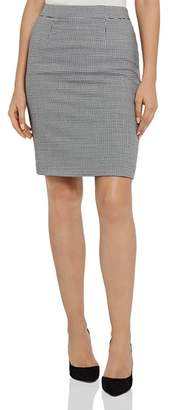Reiss Perla Houndstooth Skirt