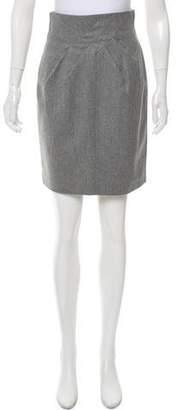 Robert Rodriguez Wool-Blend Pencil Skirt