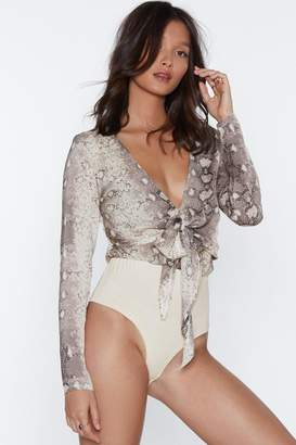 Nasty Gal Life's What You Snake It Bodysuit
