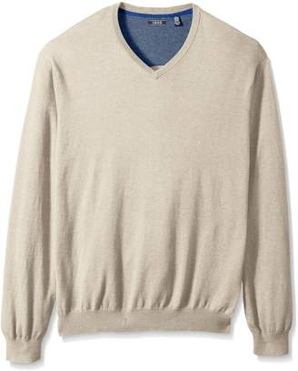 Izod Men's Big and Tall Fine Gauge Solid V-Neck Sweater