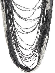 Fiona Paxton Drape Necklace - Black / Silver