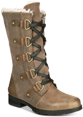 Sorel Women Emelie Lace-Up Waterproof Boots Women Shoes
