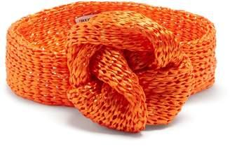 REINHARD PLANK HATS Rox raffia-knit headband