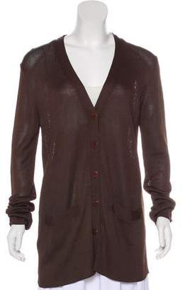 Donna Karan Knit Button-Up Cardigan