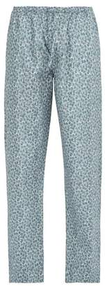 Zimmerli Poetic Floral Print Cotton Pyjama Trousers - Mens - Blue