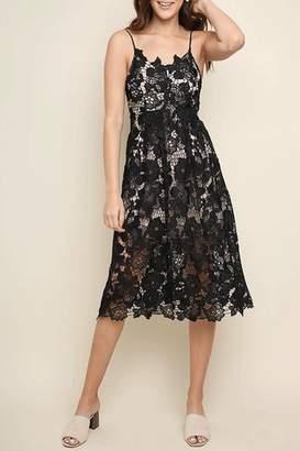 Umgee USA Black-Beauty Overlay Dress