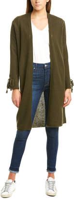 InCashmere Mid-Length Open Cashmere Cardigan