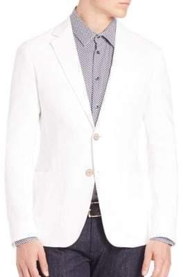 Armani Collezioni Solid Long Sleeves Blazer