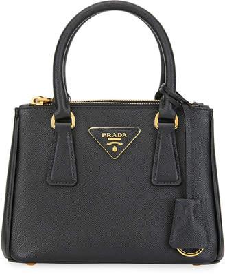 Prada Saffiano Mini Galleria Top Handle Bag