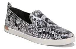 Vince Vero Snake Print Leather Sneakers