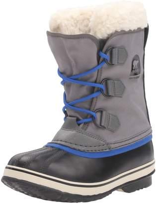 Sorel Youth Yoot Pac Nylon City Grey Textile Boots 6 US