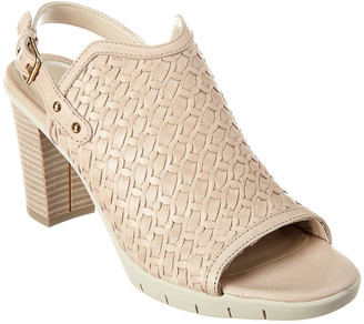 The Flexx Weave Me Be Heeled Leather Sandal