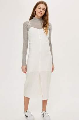 Topshop Tie Button Molly Slip Dress