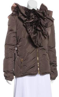 Blumarine Puffer Pleated Jacket