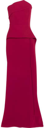Roland Mouret Addover Crepe Gown - Red