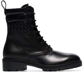 Bottega Veneta black eldfell leather boots