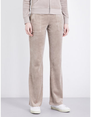 Juicy Couture Del Ray velour jogging bottoms $116 thestylecure.com
